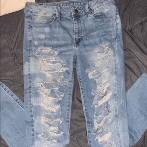 Destroyed American Eagle jeans